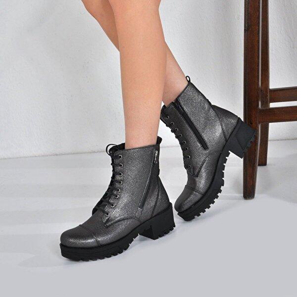 Vizon Ayakkabı Kadın  Platin Bot VZN20-072K
