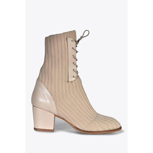 Vizon Ayakkabı Kadın  Ten Bot VZN20-039K