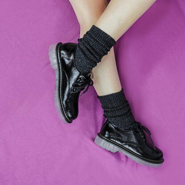 Hayati Arman Kadın Şeffaf Taban Oxfort Ayakkabı