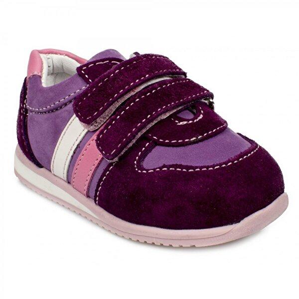 TODDLER 1822 İa Çift Cırtlı Bordo Çocuk Spor Ayakkabı