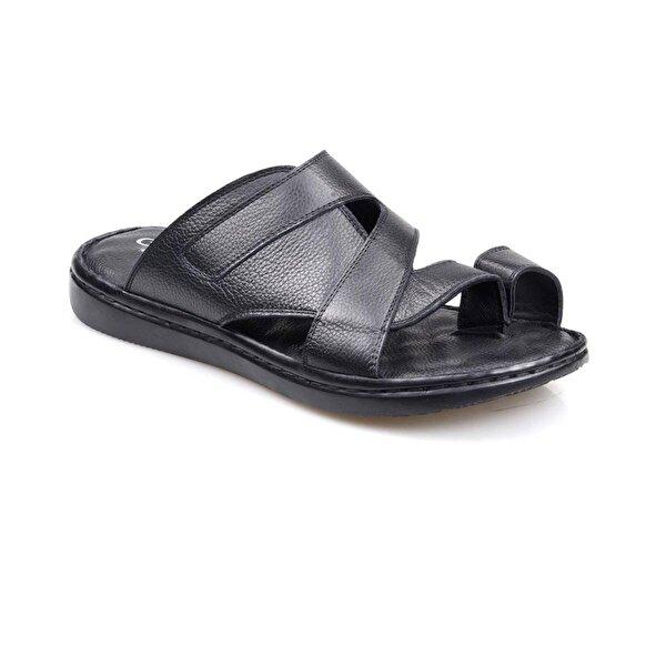 Catelli 2005 Erkek Ortapedik Siyah Parmak Arası Hakiki Deri Ayakkabı