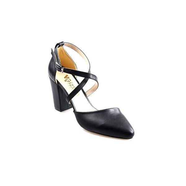 GİZSAH Papuçcity Gizzah 8,5 Cm Topuk Bayan Siyah Stiletto Ayakkabı