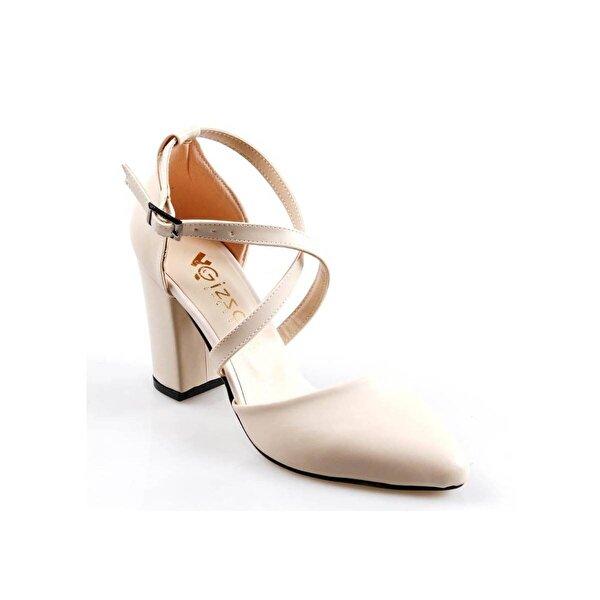 GİZSAH Papuçcity Gizzah 8,5 Cm Topuk Bayan Bej Stiletto Ayakkabı