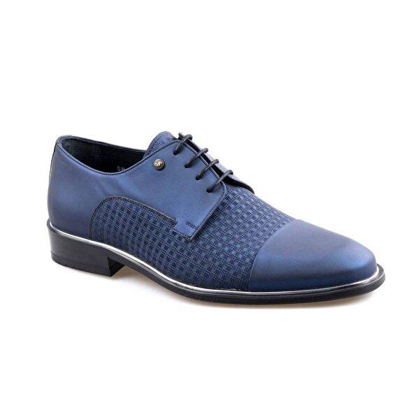 Smart 2518 Lacivert Erkek (39-44) Klasik Bağcıklı Deri Ayakkabı