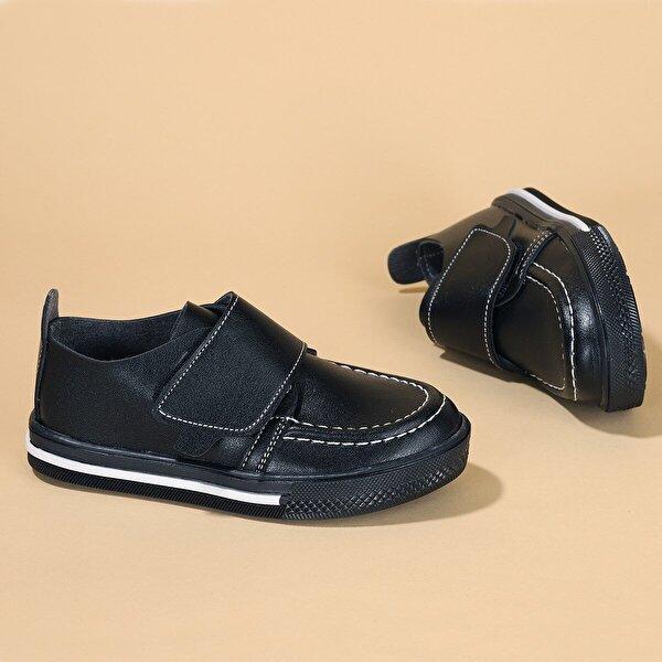 Kiko Kids Kiko Şb 1215 Cilt Cırtlı Erkek Çocuk Günlük Ayakkabı SİYAH