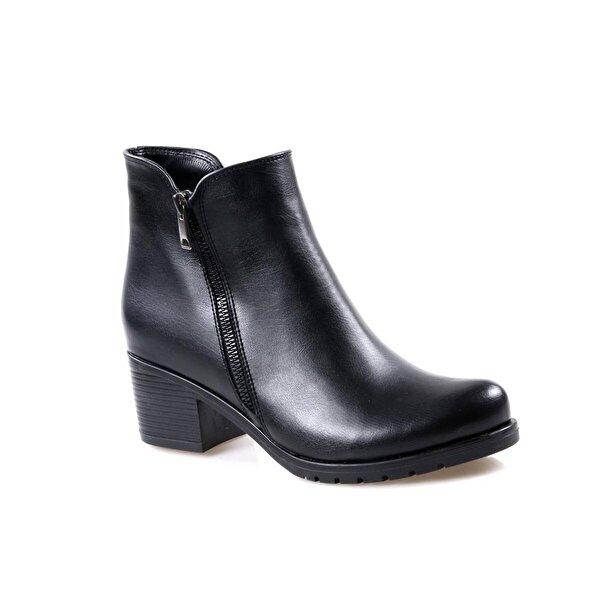 Oc Topuklu Siyah Günlük Bayan Bot