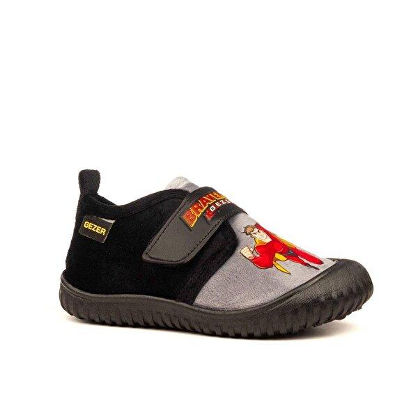 GEZER 03085 Siyah Ev İçi Okul Erkek Çocuk Günlük Panduf Ayakkabı
