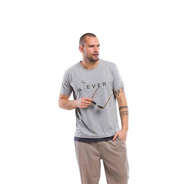 Kevin Erkek T10 Gri Tişört