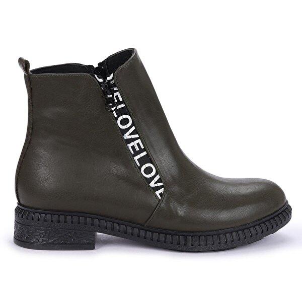 Ayakland N901-07 Cilt Termo Taban Kadın Bot Ayakkabı HAKİ