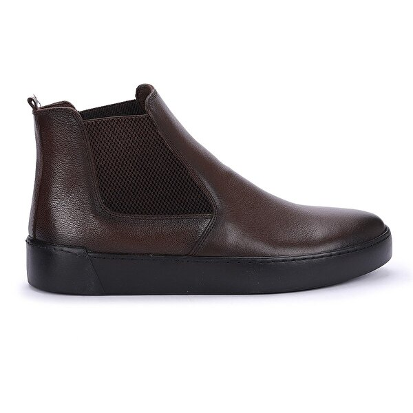 Ayakland Hrz 103 Deri Termo Taban Dikişli Erkek Bot Ayakkabı Kahverengi