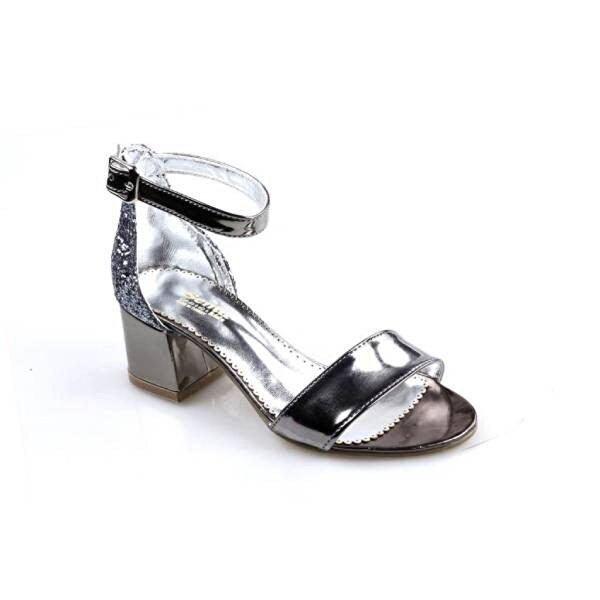 SEMA Platin Tek Bant Abiye Düğünlük Kız Çocuk (26-36) Sandalet Ayakkabı