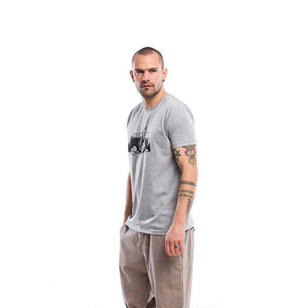 Kevin Erkek T6 Gri Tişört