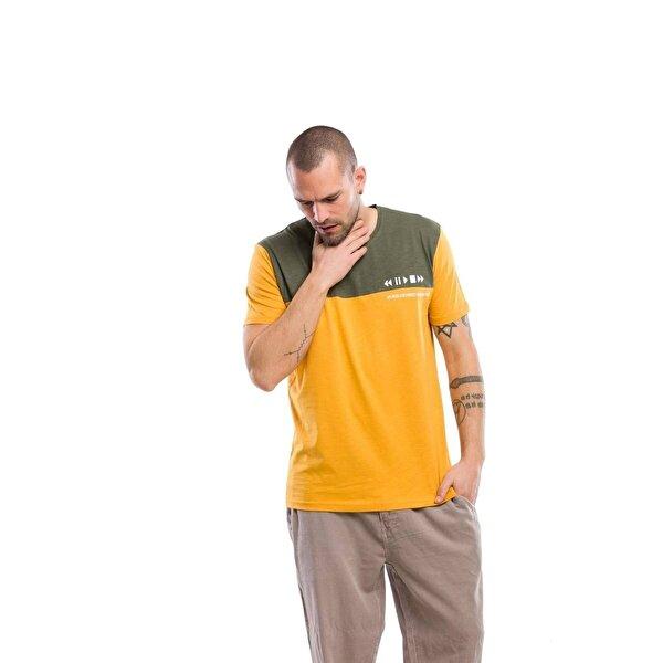 Kevin Erkek T4 Hardal Tişört