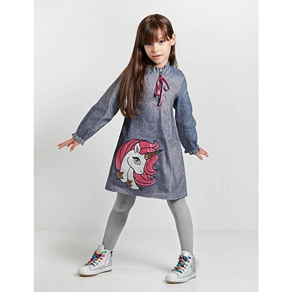 Denokids Unicorn Laci Elbise