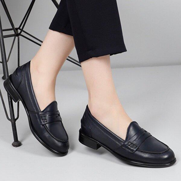 Gön Hakiki Deri Kadın Günlük Ayakkabı 24138