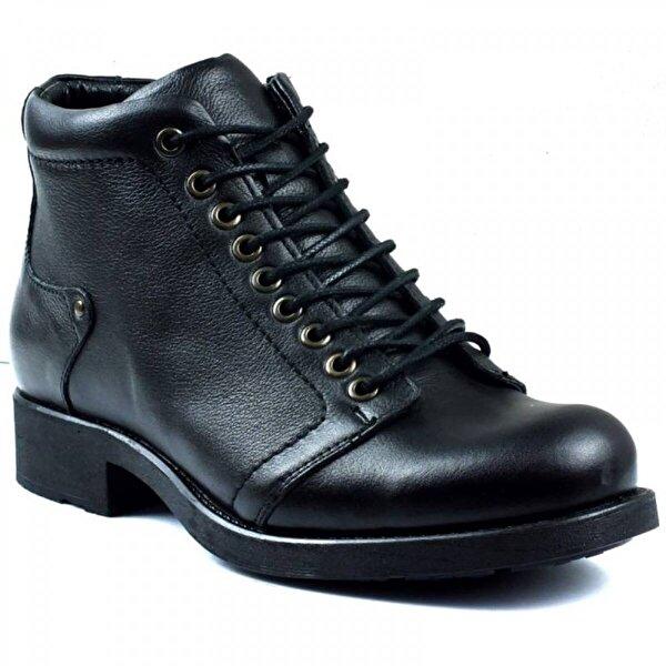 Voyager Ayakkabix Manner Hakiki Deri Kışlık Erkek Bot Siyah