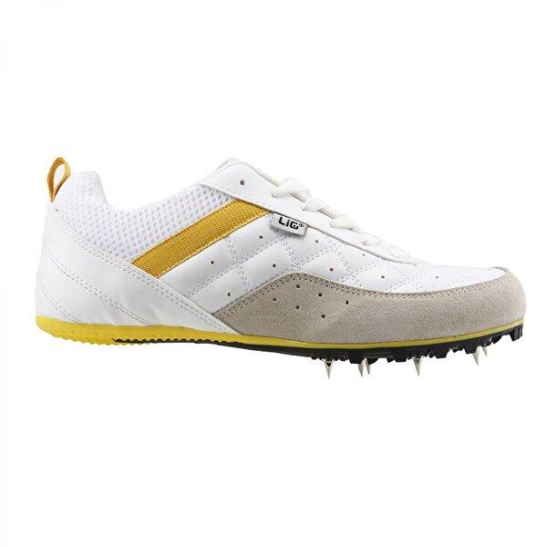 LIG Monaco Erkek Çivili Koşu Ayakkabısı BEYAZ-SARI