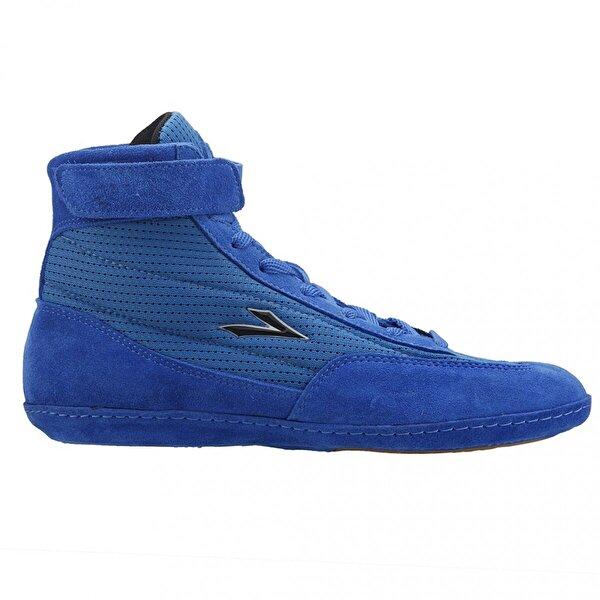 LIG 70 Güreş Boks Erkek Salon Spor Deri Ayakkabı Mavi