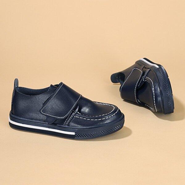Kiko Kids Kiko Şb 1215 Cilt Cırtlı Erkek Çocuk Günlük Ayakkabı LACİVERT