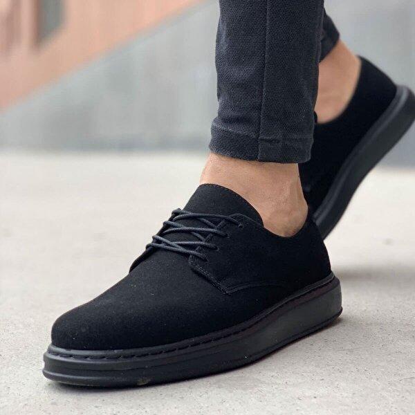 Chekich CH003 Süet ST Erkek  Sneaker Ayakkabı SIYAH