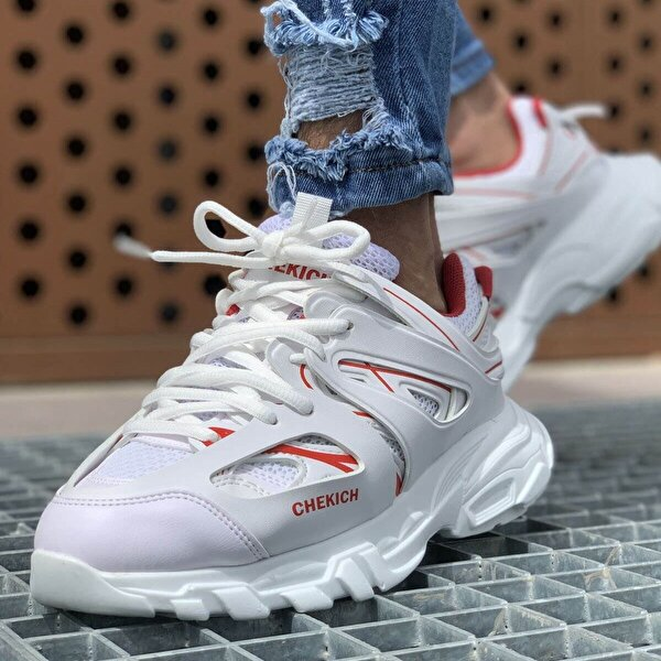 Chekich CH301 BT Erkek  Sneaker Ayakkabı BEYAZ - KIRMIZI