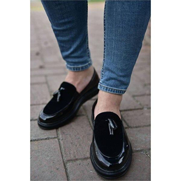 Chekich CH002 Rugan ST Erkek  Sneaker Ayakkabı SIYAH