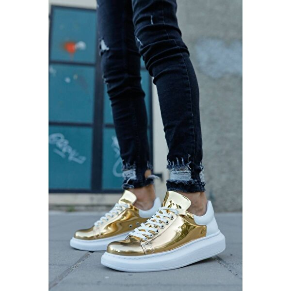 Chekich CH259 BT Erkek  Sneaker Ayakkabı ALTIN / BEYAZ