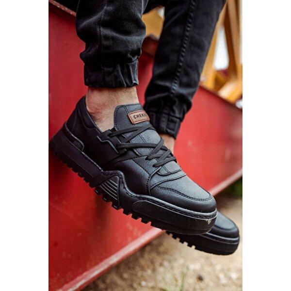 Chekich CH067 SST Erkek  Sneaker Ayakkabı SİYAH/SİYAH