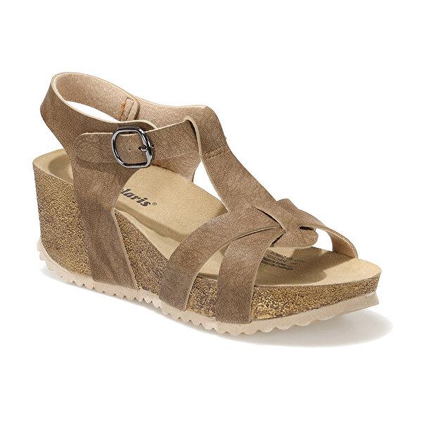 Polaris 317689.Z 1FX Kahverengi Kadın Dolgu Topuklu Sandalet