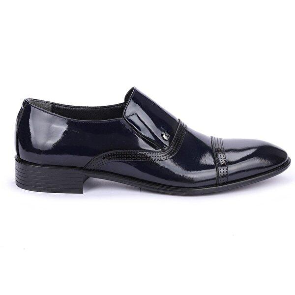 AYAKLAND P545 Rugan %100 Deri Klasik Erkek Ayakkabı LACİVERT