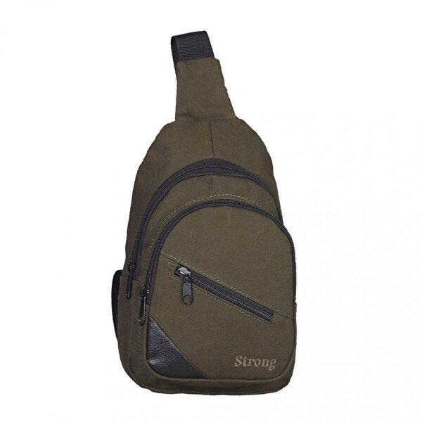 Strong Kanvas Çapraz Askılı Göğüs ve Sırt Çantası, Body Bag Çanta HAKİ