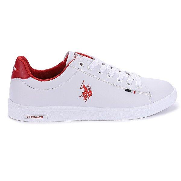 U.S. POLO Assn. Franco Wmn Günlük Yürüyüş Bayan Spor Ayakkabı Beyaz Kırmızı