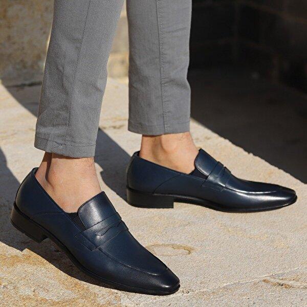 AYAKLAND P405 %100 Deri Klasik Erkek Ayakkabı LACİVERT