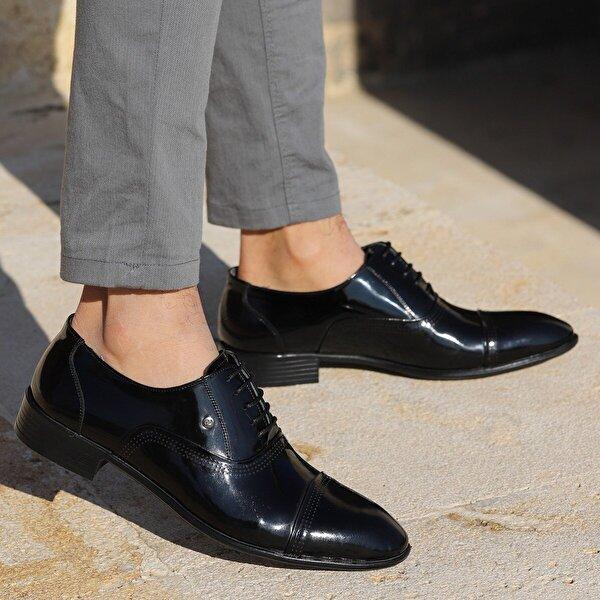 Ayakland P546 Rugan %100 Deri Klasik Erkek Ayakkabı SİYAH