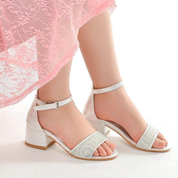 Kiko Kids Kiko 765 Vakko Günlük Kız Çocuk 3 Cm Topuk Sandalet Ayakkabı SEDEF