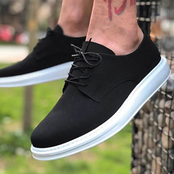 Chekich CH003 Süet BT Erkek  Sneaker Ayakkabı SIYAH