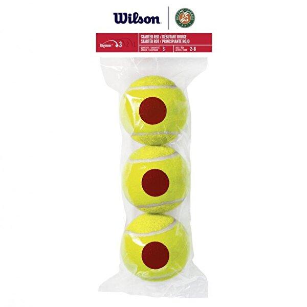 WILSON WRT147600 Roland Garros Red Tournament ITF Onaylı 3 lü Tenis Antrenman Topu Kırmızı