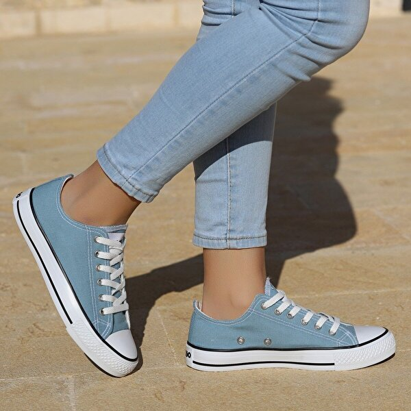 Woggo 2250 Günlük Keten Kadın Spor Ayakkabı Bebe Mavi