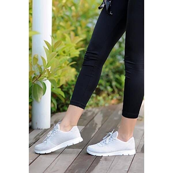 Pembe Potin A1971-20Gri  Kadın Gri Ayakkabı A1971-20