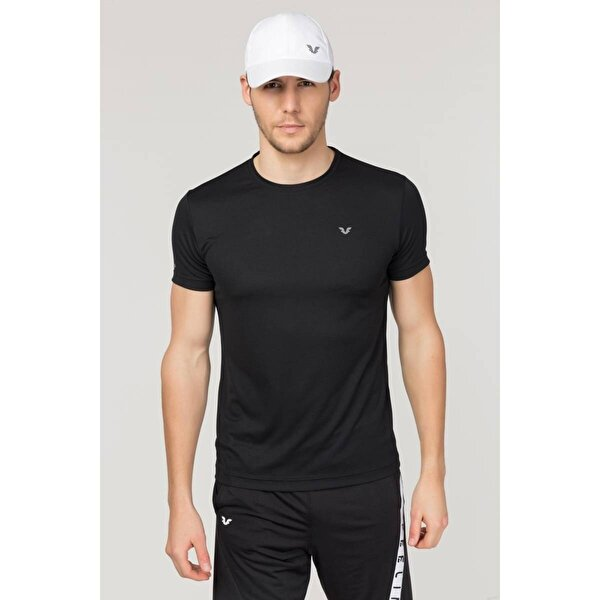Bilcee Siyah Erkek Antrenman T-Shirt FS-1332