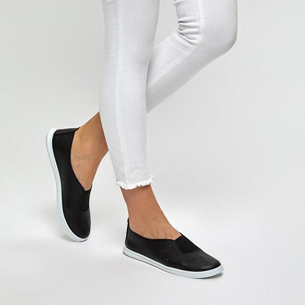 polaris 91.313451.Z Siyah Kadın Slip On Ayakkabı