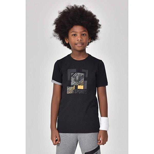 Bilcee Siyah Erkek Çocuk T-Shirt GS-8194