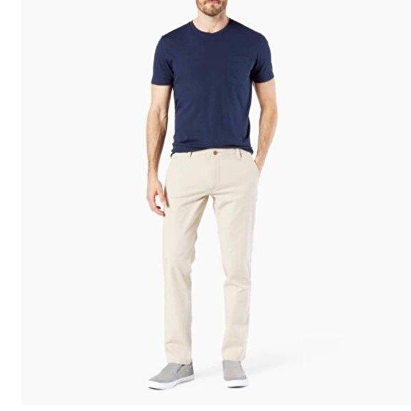 Dockers Erkek Sıgnature Khaki Tapered Fıt Keten Pantolon 74620