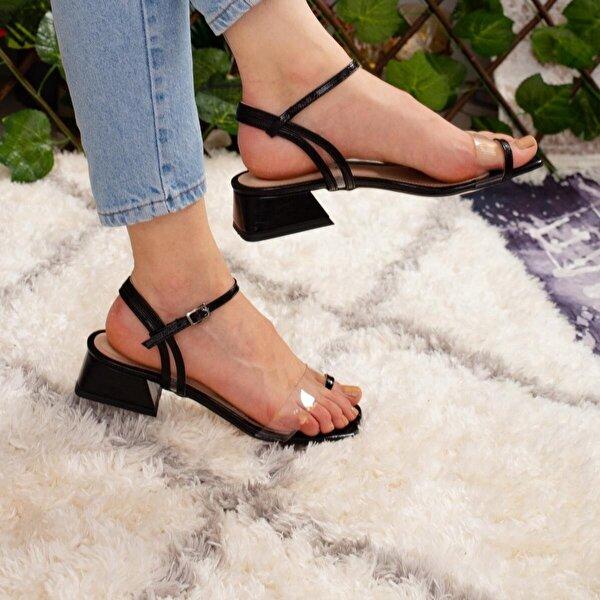 Limoya Maegan Siyah Düz Topuklu Sandalet
