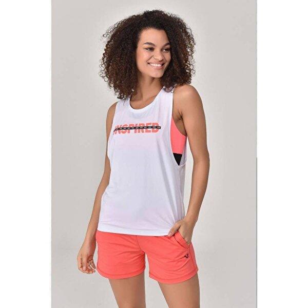 Bilcee Beyaz Kadın Antrenman Atlet  GS-8611