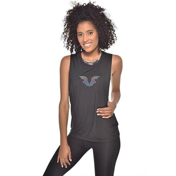 Bilcee Siyah Kadın Bra Üstü Atlet GW-9205
