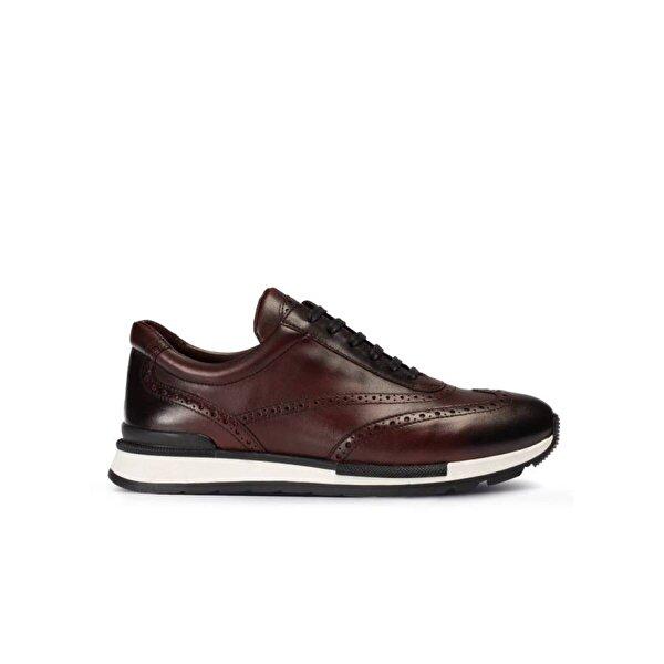 Deery Hakiki Deri Bordo Sneaker Erkek Ayakkabı