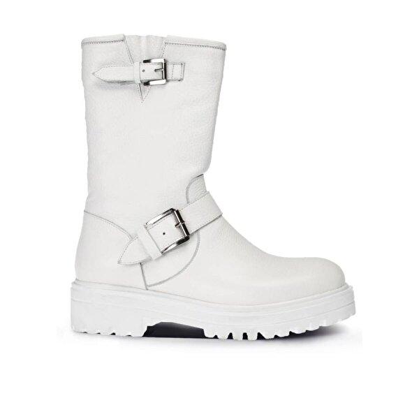 Deery Hakiki Deri Beyaz  Kadın Bot