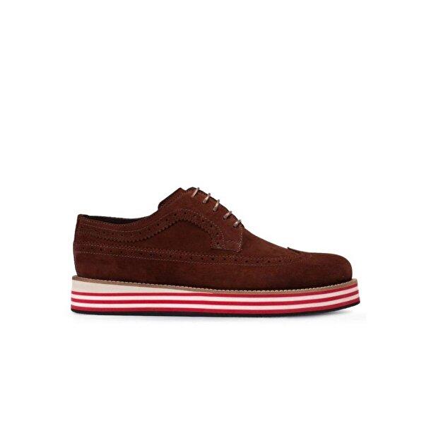 Deery Hakiki Süet Bordo Günlük Erkek Ayakkabı