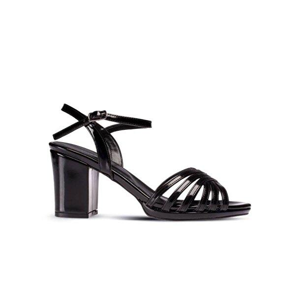Deery Siyah Abiye Topuklu Kadın Ayakkabı